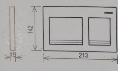 לחצן אלפא 15 מרובע כרום