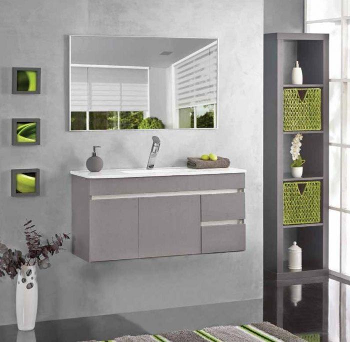"""ארון אמבטיה תלוי אמזון 80 ס""""מ פורמייקה"""