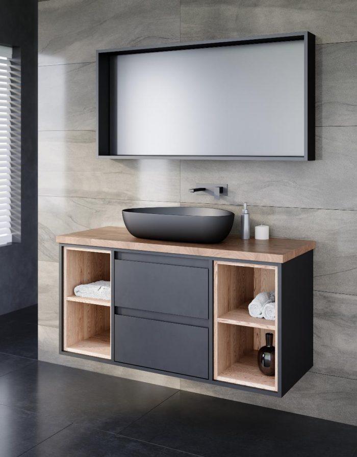 """ארון אמבטיה תלוי ויטוריו 100 ס""""מ פורניר"""