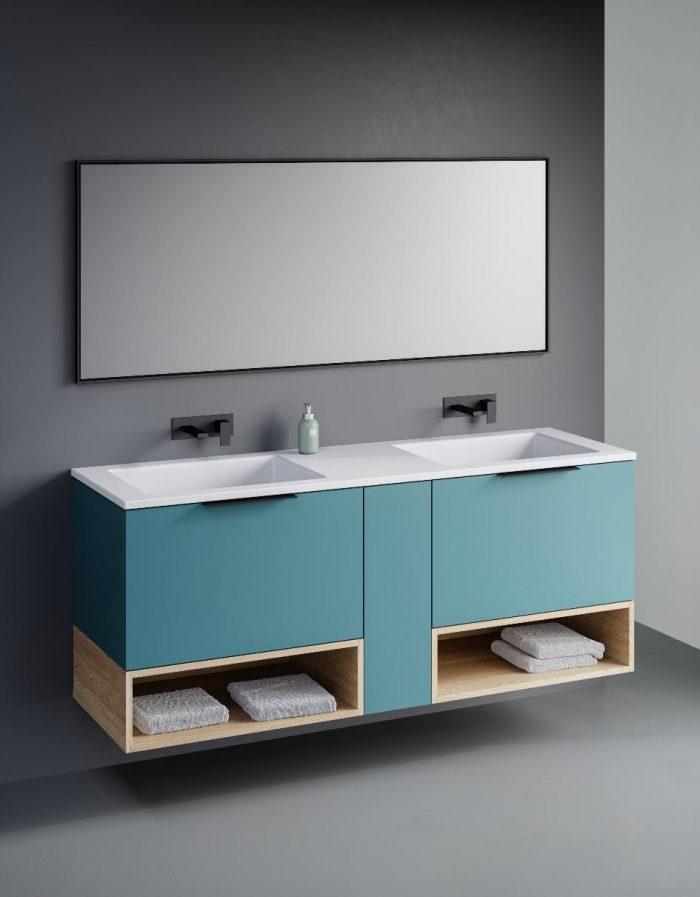 """ארון אמבטיה תלוי יהב 120 ס""""מ פורניר"""