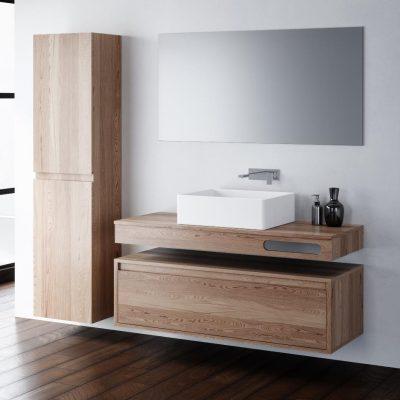 """ארון אמבטיה תלוי ערבה , פורניר 100 ס""""מ"""