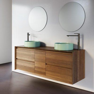 """ארון אמבטיה תלוי עץ 120 ס""""מ צין"""