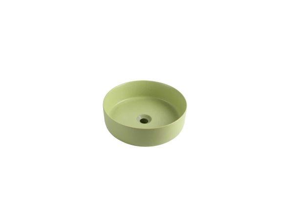 כיור מונח ריחן חרס ירוק מט
