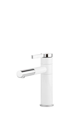 ברז פרח לאמבטיה לבן בשילוב ניקל 5407