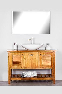 """ארון אמבטיה עומד עץ מלא ביינה 120 ס""""מ"""