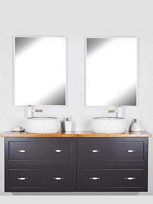 """ארון אמבטיה תלוי 160 ס""""מ אפור סדרת פלרמו"""