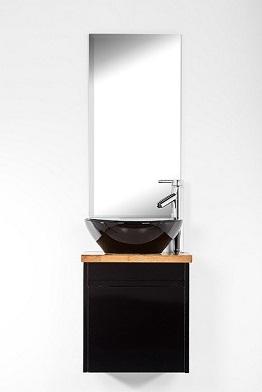 """ארון אמבטיה תלוי סדרת יהלום 45 ס""""מ שחור מבריק"""