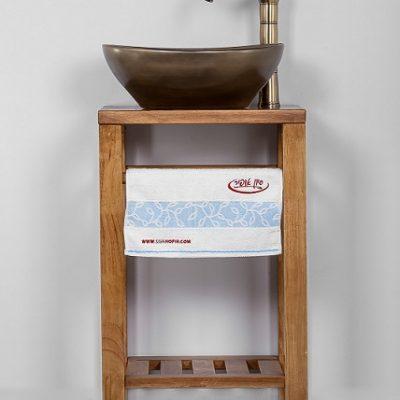 """ארון אמבטיה עומד פרמה 45 ס""""מ עץ מלא"""