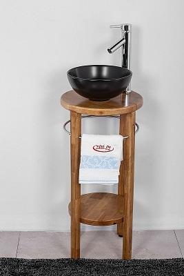 """ארון אמבטיה עומד סדרת איטליה 37 ס""""מ עץ מלא"""