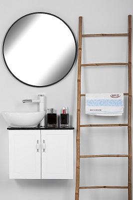 """ארון אמבטיה תלוי סדרת פרובנס 60 ס""""מ לבן"""