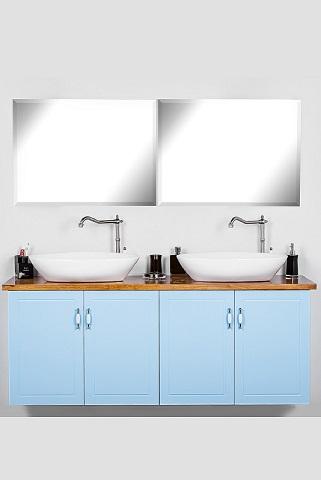 ארון אמבטיה תלוי סדרת רנסנס 2 מטר תכלת