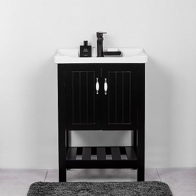 """ארון אמבטיה נאפולי עומד 60 ס""""מ שחור"""