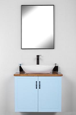 """ארון אמבטיה תלוי 80 ס""""מ סדרת רנסנס תכלת"""