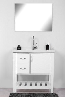 """ארון אמבטיה עומד 80 ס""""מ סדרת מילאנו"""