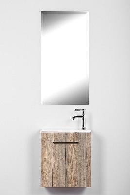 ארון אמבטיה תלוי קטן דלת אגוז