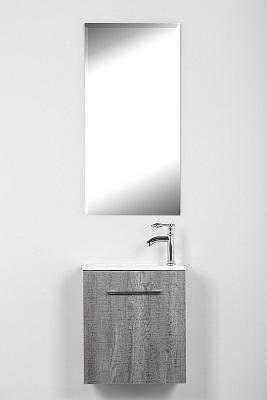 ארון אמבטיה תלוי קטן אפור נייבי