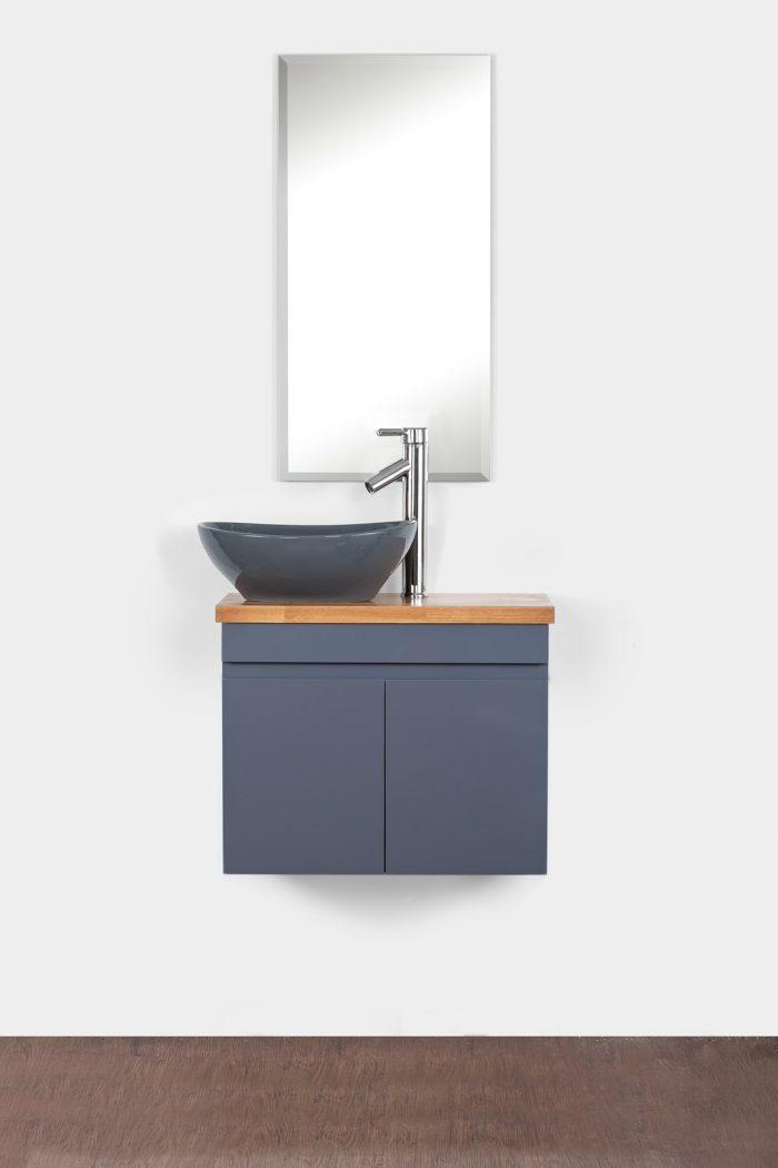 ארון אמבטיה תלוי סדרת יהלום 60/30 אפור מבריק