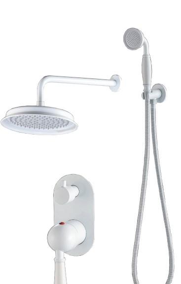 סט לאמבטיה אינטרפוץ 4 דרך לבן