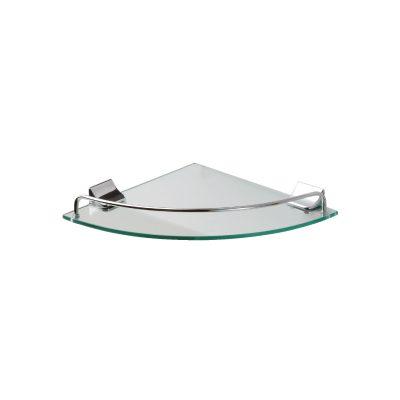 מדף זכוכית פינתי בודד לוטוס