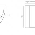 כיור עגול מונח בטון D1 + מדף לתליית הכיור PEZZI איטליה
