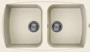 """כיור מטבח כפול ELLECI איטליה מתאים לארון 83 ס""""מ ליווינג 450 ביאנקו אנטיקו"""