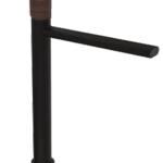 ברז אמבטיה גבוה לאמבטיה B16 שחור מט ידית עץ PEZZI איטליה