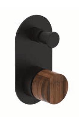 אינטרפוץ 4 דרך B16 שחור מט ידית עץ PEZZI איטליה