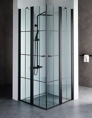 מקלחון שחור מונרו S, מקלחון פינתי בגימור פסים