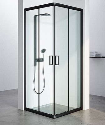 מקלחון שחור וושינגטון C, מקלחון הזזה פינתי, בגימורשקוף