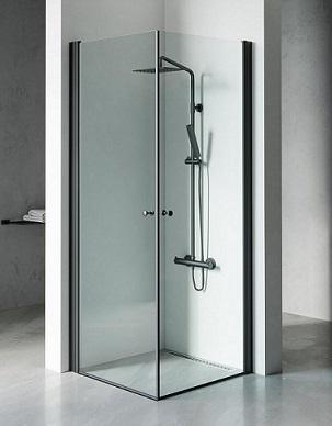 מקלחון שחור אדמס C, מקלחון פינתי, בגימור שקוף