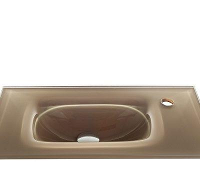 כיור מעוצב אינטגרלי זכוכית מוקה