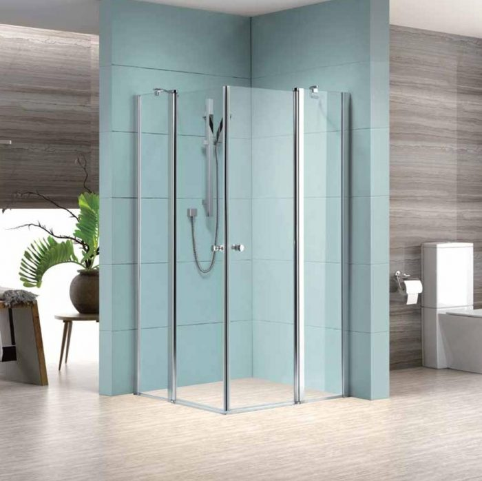 מקלחון פינתי לורנס 2 דלתות קבועות+ 2 נפתחות