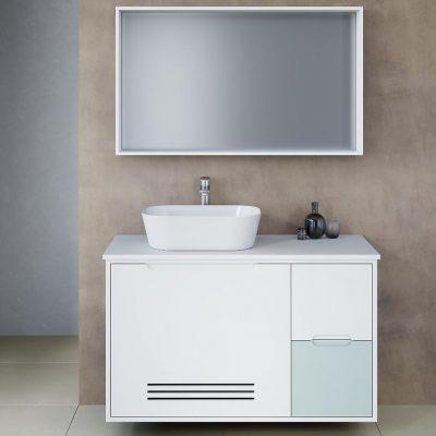 """ארון אמבטיה תלוי אפוקסי ברקן 70/75/80 ס""""מ"""