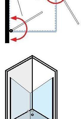 """מקלחון פינתי זכוכית כהה 77-80 ס""""מ פרופיל ניקל"""