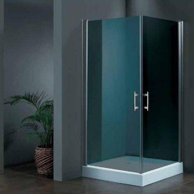 """מקלחון פינתי זכוכית כהה 77-80 ס""""מ"""