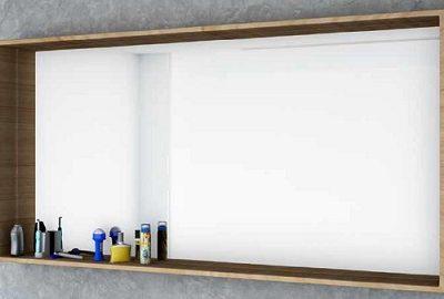מראה עם מסגרת מדף מלבנית, בוצ'ר