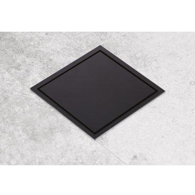תעלת ניקוז בחיבור ישיר 10X10 ZERO ס״מ שחור מט